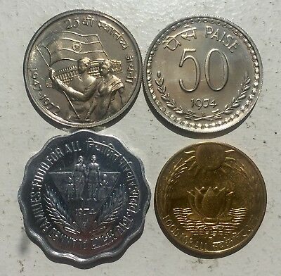 India Republic 4 Proof Coins From Official Sets - No International Shipping