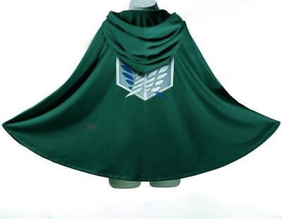 Anime Shingeki no Kyojin Cloak Cape clothes cosplay Attack on Titan Free Size US