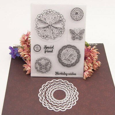 Round Lace Cutting Dies Stencil For DIY Scrapbooking Embossing Album Card Craft