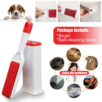 Pet Cat Hair Lint Fur Remover Cleaner Magic Cloth Fluff Fabric Brush Reusable N/