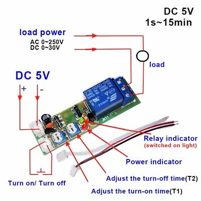 DC 5/12/24V 1S-15Min Infinite Cycle Delay Timer Relay Switch ON OFF Module Safe