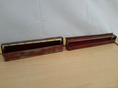 """2 Old Vintage Rare Logo Snap-On Tools - Socket Set Tray Trays Only 3/8""""-1/4"""""""