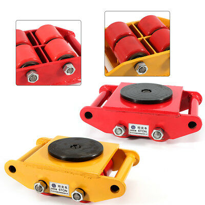 13200lb 6T Machinery Mover Roller Dolly Skate w/360° Swivel Top Plate USA STOCK