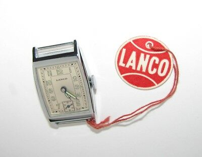 Not Used tank WATCH 1930s LANCO swiss RARE new old stock Art Deco watch