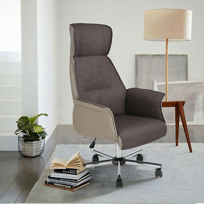 High Back Brown Swivel Adjustable Height Patent Throne Design Executive Chair