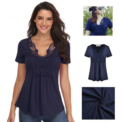 7bf62c9e775 Peplum Tops for Women Deep V-Neck Ruched Front Short Sleeve Ruffle Casual  Blouse