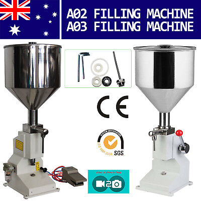 Manual Liquid Filling Machine Pneumatic Cream Shampoo Cosmetic Bottle Filler AU