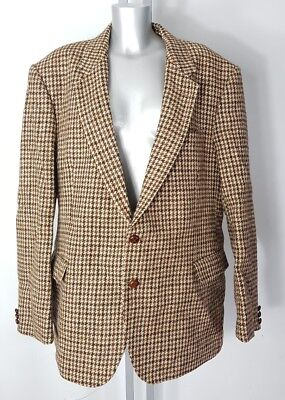 Harris Tweed Couture Mr Harry Hand Woven Pure Wool Blazer Jacket Size 50 R