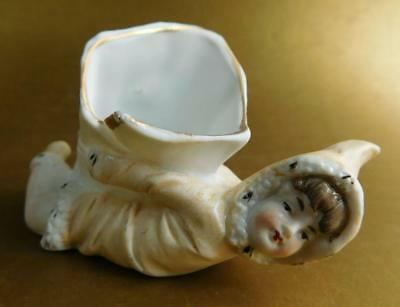 German Porcelain Doll Snow Piano Baby Spill Vase Figurine 1890s