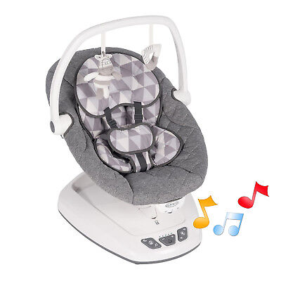 New Graco Watney Move With Me Reclining Musical Baby Swing From Birth