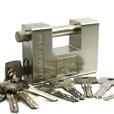 10 Keys Super Heavy Duty 20' 40' Container Garage Warehouse Padlock Chain Lock