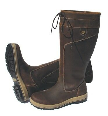 Rhinegold 'Elite' Vermont Leather Country Boots Size UK 8 Wide Calf