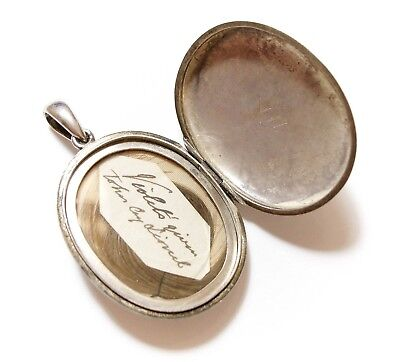Beautiful Large Old Antique Victorian Silver Locket Pendant For A Chain (A2)