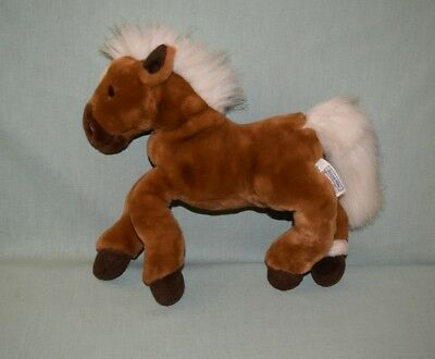 """Plush Animal Alley Toys R Us 14"""" Brown Horse Pony 2000"""