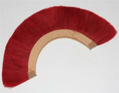 RED PLUME RED CREST BRUSH_Natural Horse Hair For ROMAN HELMET ARMOR New