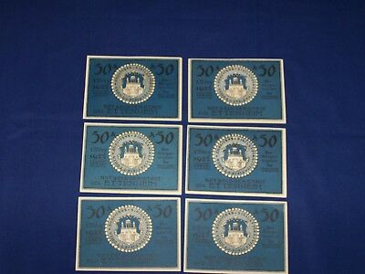Complete Set of 6 German Notgeld.Issued by the Town of Ettenheim. Ng47