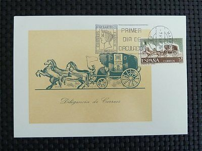 SPAIN MK 1975 PFERDE-KUTSCHE HORSE MAXIMUMKARTE CARTE MAXIMUM CARD MC CM c4857