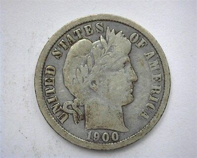 1900-O Barber Silver 10 Cents  Rare! Better Date!