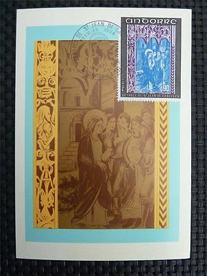 ANDORRA MK 1971 FRESCOES MAXIMUMKARTE CARTE MAXIMUM CARD MC CM c801