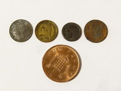 4 x Antique Victorian & Edwardian Mixed Lot Toy Money Model Miniature Coins #41