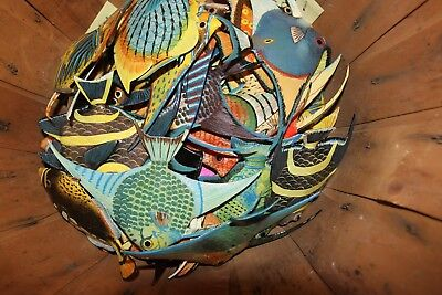 (48) Seafood Decor Realistic Saltwater Fish,Bundle of 48 Coral Reef Fish, 6 inch