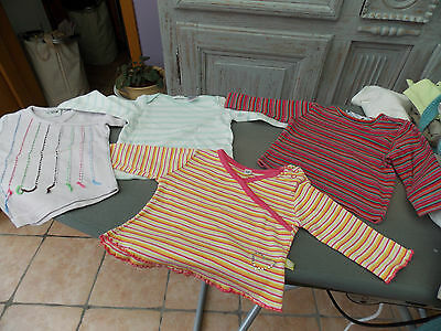 1 t-shirt courtes manches + 3 t-shirts longues manches taille 6 mois