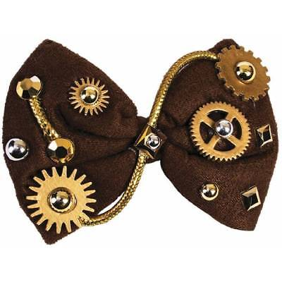Victorian Steampunk Brown Bow Tie Gothic Cosplay Fancy Dress Accessory