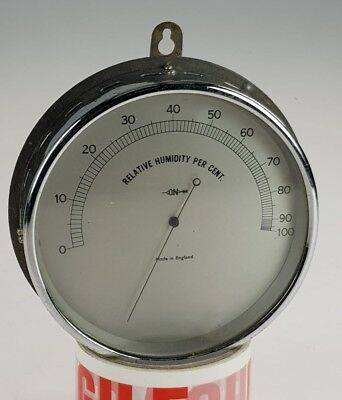 "VINTAGE WALL BAROMETER RELATIVE HUMIDITY GAUGE BY ""ON"". SERIAL No 1869"