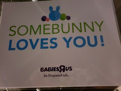 """Toys R Us / Babies R Us """"Somebunny Loves You"""" sign"""