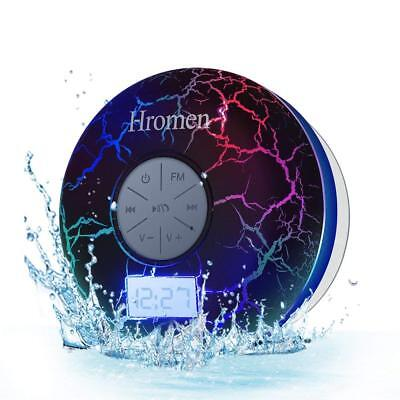 2ND GEN Hromen IPX7 Waterproof Bathroom Bluetooth Shower Speaker FM Radio NEW