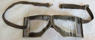 Pilot/Motorcycle Folding Goggles L'Express French Old Vtg Antique