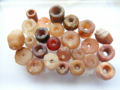 25 Ancient Neolithic Carnelian, Quartz, Stone Beads, Stone Age, VERY RARE!