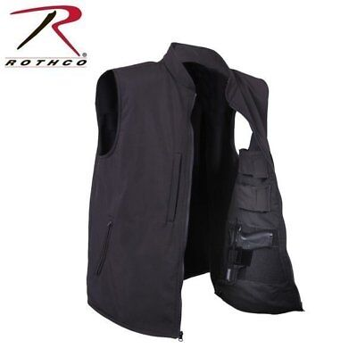 Men's Black Concealed Carry Waterproof Soft Shell Vest Free Shipping!