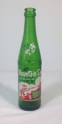 Vintage Mountain Dew Name Bottle  Big Jim - Little Jim Green