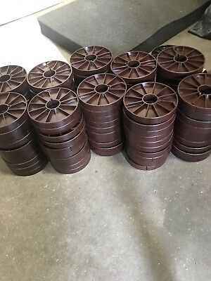 "Lot of 100 4"" Brown 16mm film plastic Core / bobbin - Editing Cine Projection"