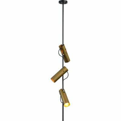 Renwil Modern Glamour Hoxton 3 Light Pendant in Gold and Matte Black
