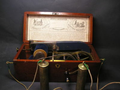 Antique Improved Magneto Electric Shock Machine For Nervous Diseases