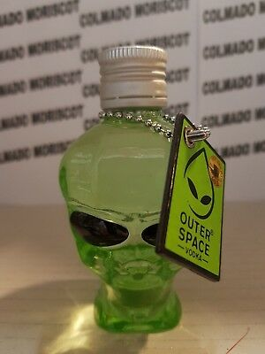 OUTER SPACE VODKA 40% 5cl 50ml 0,05L USA glass miniatura mignonette mini bottle