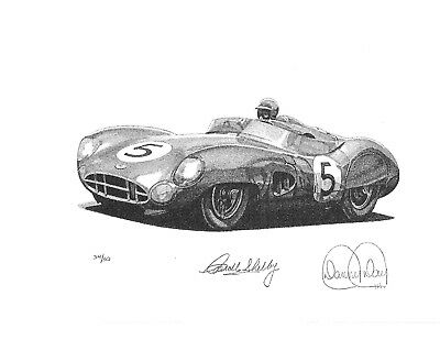 LeMans Champion 1959 by Danny Day Autographed by Carroll Shelby Aston Martin