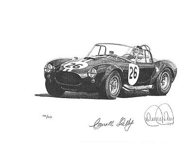 289 Shelby Cobra by Danny Day Autographed by Carroll Shelby