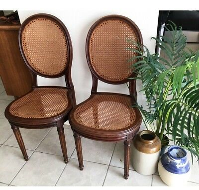 Caned Chairs Vintage American Set/2