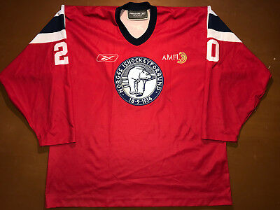 IIHF Norway Ice Hockey Game Worn Jersey Shirt Reebok Size XXL #20 Norge Ishockey