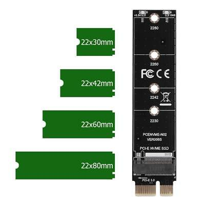 NVME Adapter Card M.2 to PCI-E3.0 1x Extension M Key NGFF Converter Card Adapter