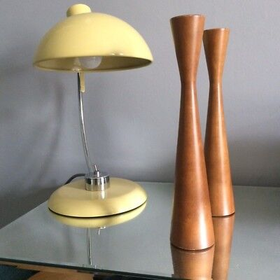 A pair of Mid 20th Century Teak Mapel Wooden Candle Holder Baribocraft 1970s 60s