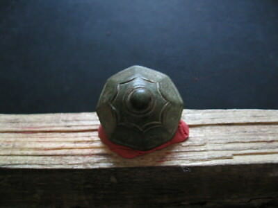 Hexagonal Pommel Of Dagger Hilt Ancient Celtic Bronze Piece Of Weapon 600-400 Bc