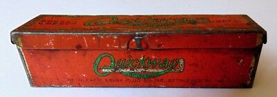 Antique Quickway Socket Wrench Tin Bethlehem PA EMPTY