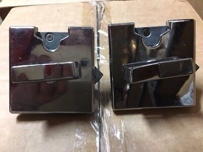 2 chrome Northwestern vending coin mechanism 25 cent gumball candy toy nut Mech