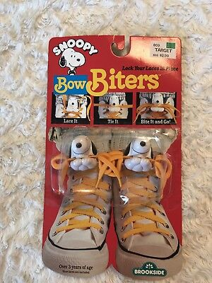 Snoopy Bow Biters Shoe Accessories 80's NEW