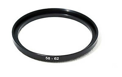anillo adaptador filtro 58mm a 62mm Step Up