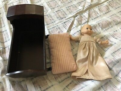 American Girl Baby Polly Doll With Gown, Mattress, Cradle